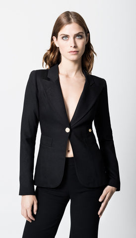 Smythe Duchess One Button | Black | Blazers | $595