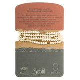 Scout Bracelet Becomes A Necklace | White Fossil Jasper | Jewelry | $28