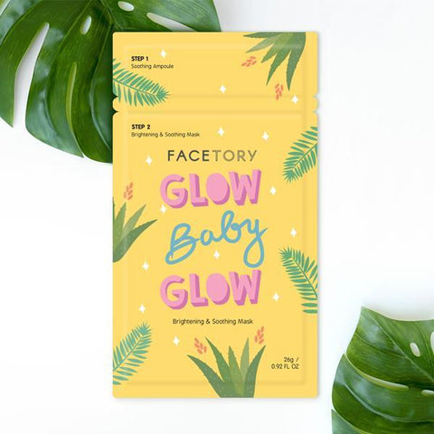 FaceTory Mask Single | Glow Baby Brightening and Soothing | Beauty & Wellness | $3