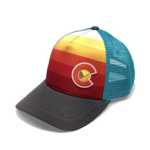 YoColorado Kids Fader Trucker | Sunset | Hats | $28