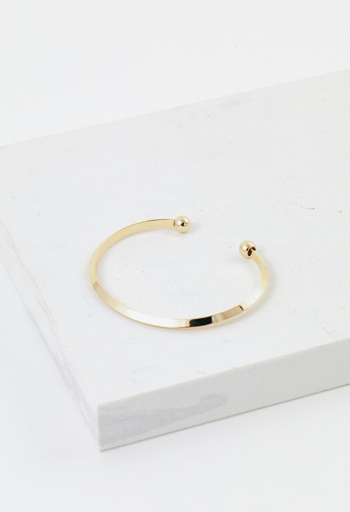 Lover's Tempo Hemisphere Bangle | Gold | Bracelets | $36