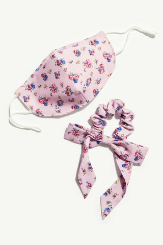 Free People Face Mask & Bow Pack | Lilac Floral | Beauty & Wellness | $22