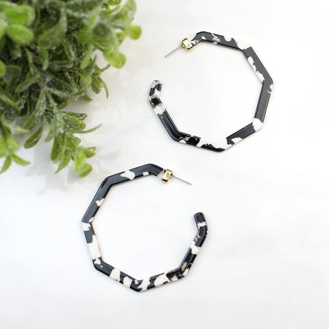 Funky Monkey Olivia Octagon Hoop Collection | Multi | Earrings | $18