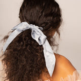Kitsch Satin Scarf Scrunchies | Black/Grey | Hair Accessories | $12