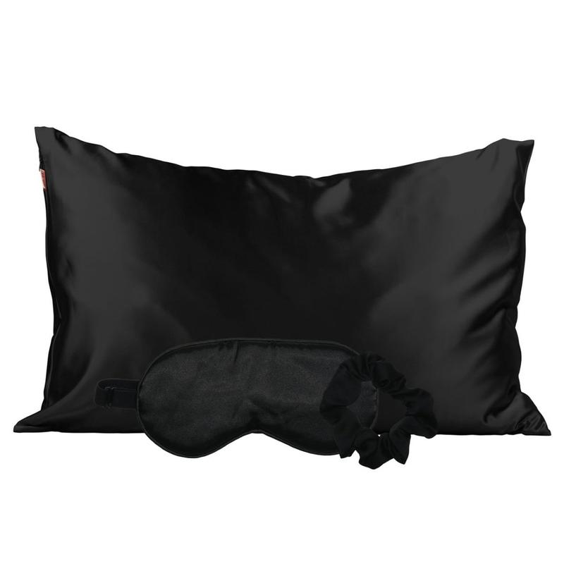 Kitsch Satin Sleep Set | Black | Beauty & Wellness | $38