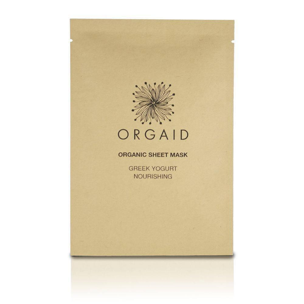 Orgaid Organic Single Sheet Mask | Greek Yogurt & Nourishing | Beauty & Wellness | $6