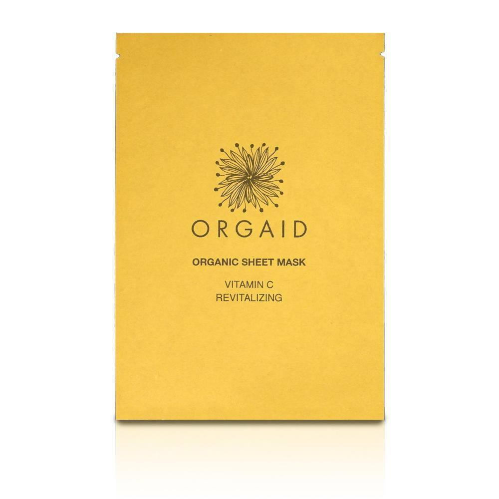 Orgaid Organic Single Sheet Mask | Vitamin C & Revitalizing | Beauty & Wellness | $6