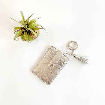 Funky Monkey Key Ring Wallet | Silver | Wallets | $18