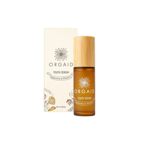 Orgaid Organic Youth Serum | Hyaluronic & Vitamin C | Beauty & Wellness | $62
