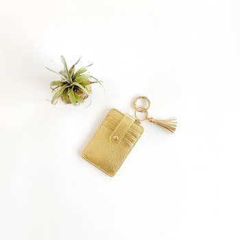 Funky Monkey Key Ring Wallet | Gold | Wallets  | $18