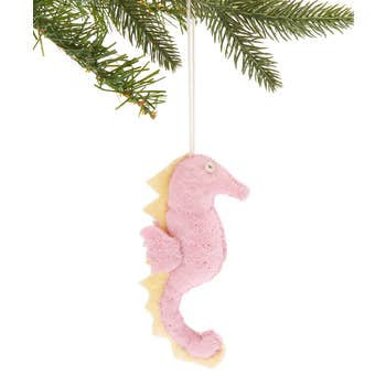 The Silk Road Bazaar Ornament | Pink Seahorse | Home & Gifts | $12