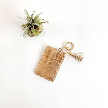 Funky Monkey Key Ring Wallet | Rose Gold | Wallets  | $18