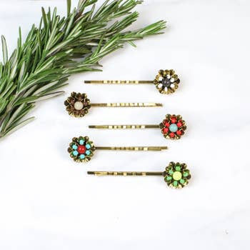 Funky Monkey Bobby Pins | Garden Glam | Hair Accessories | $12