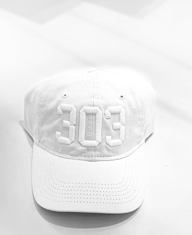 (Code) word Mile High | White/White 303 | Hats | $35