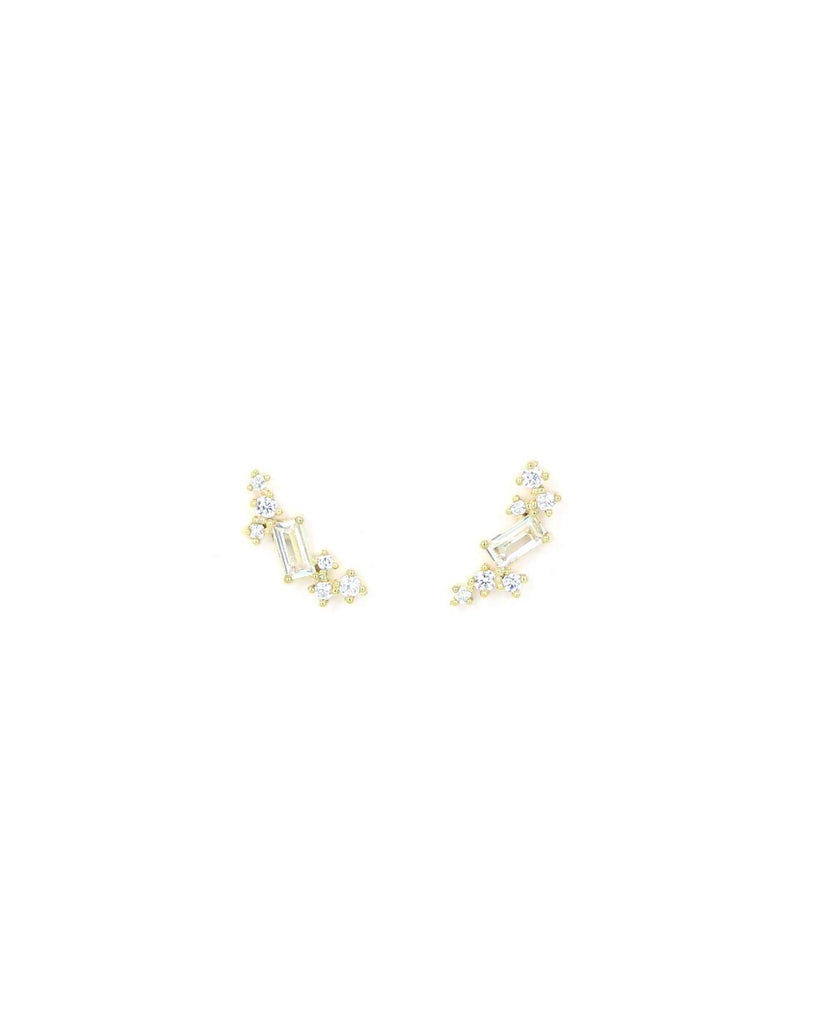 Lover's Tempo Laurel Climbers | Gold | Earrings | $46