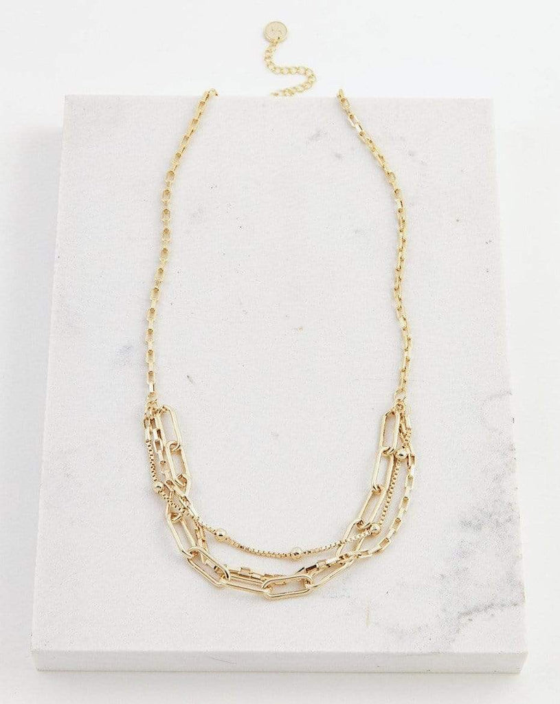 Lover's Tempo Shay | Gold | Necklaces | $75