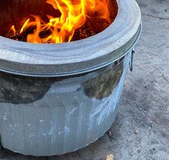 Trashy Fire Pit with Rust