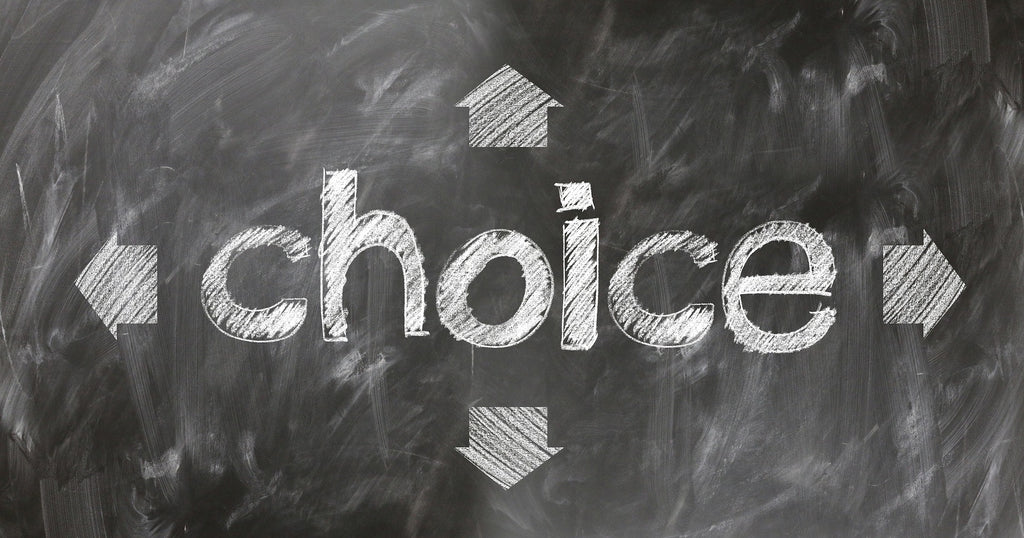 Blog post image how to make better decisions, how to be decisive, too many choices, how to stop overthinking
