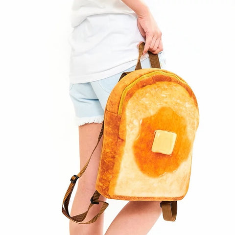 toast bread butter backpack
