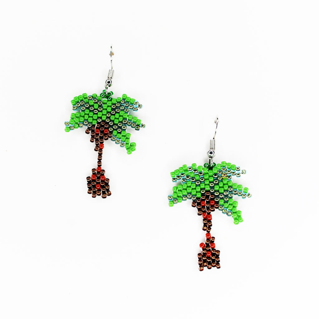 beaded-palm-tree-earrings- GIN & JACQIE