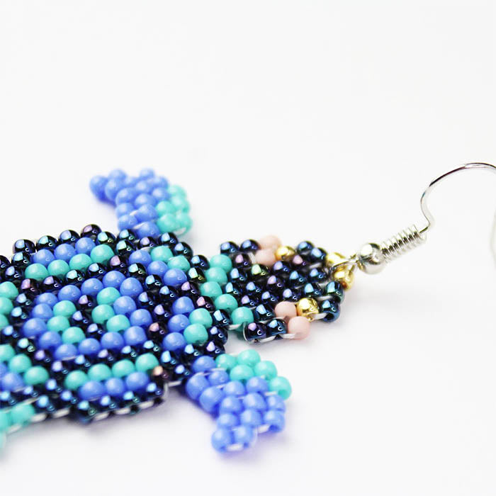 Blue Beaded Sea Turtle freeshipping - GIN & JACQIE