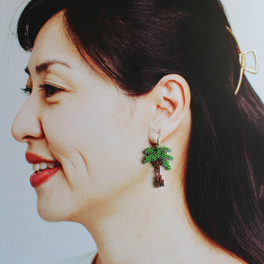 beaded-palm-tree-earrings-GIN & JACQIE
