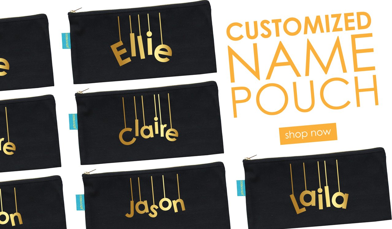 Custom Name Tote & Canvas Pouch