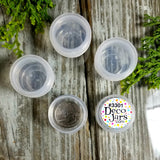 Set of 50  -  Tiny .25oz Clear Jars w/ Screw-on Clear Caps (1tsp) - #3301