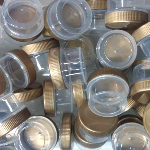 40 Clear Jars w/ Screw-on Gold Caps (1/2oz) - #3803