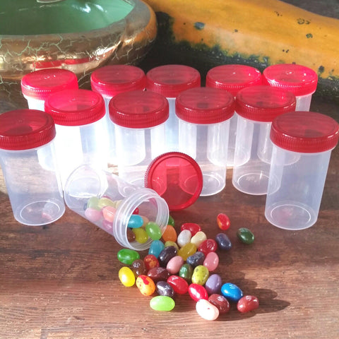 Clear Jars w/ Screw-on Red Caps (2oz) - #4314