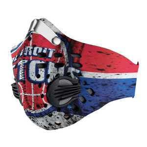 Detroit Pistons Carbon PM 2,5 Face Mask
