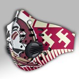 Florida State Seminoles football Carbon PM 2,5 Face Mask