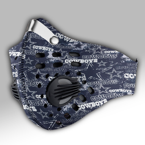 New - Dallas Cowboys Carbon PM 2,5 Face Mask