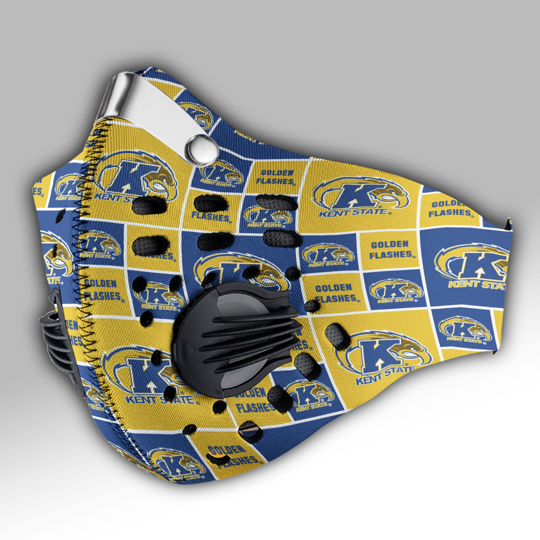 Kent State Golden Flashes Carbon PM 2,5 Face Mask