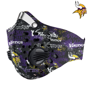 Minnesota Vikings Carbon PM 2,5 Face Mask