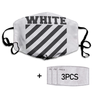 Off White Mask White Full printed Face Mask