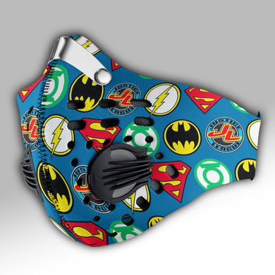 Justice League - DC Comics Carbon PM 2,5 Face Mask