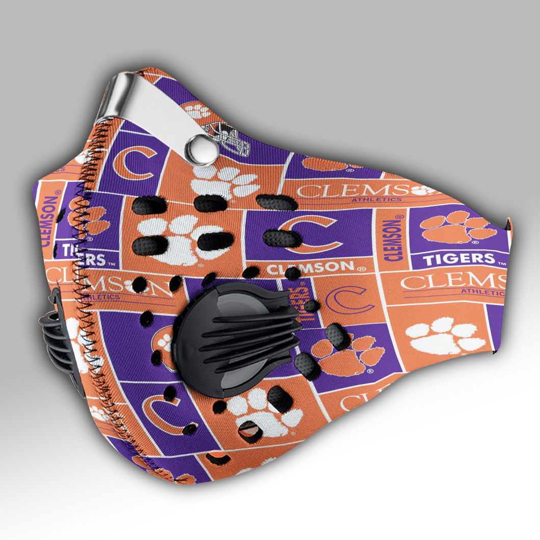 Clemson Tigers football Carbon PM 2,5 Face Mask