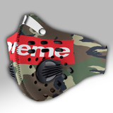 Supreme Camouflage Carbon PM 2,5 Face Mask