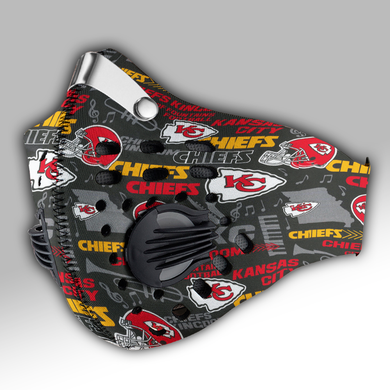 Kansas City Chiefs Hometown Mask Carbon PM 2,5 Face Mask