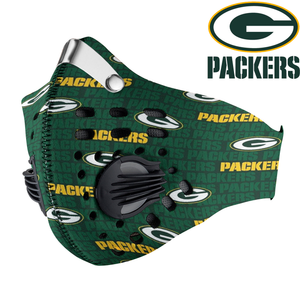 Green Bay Packers Carbon PM 2,5 Face Mask