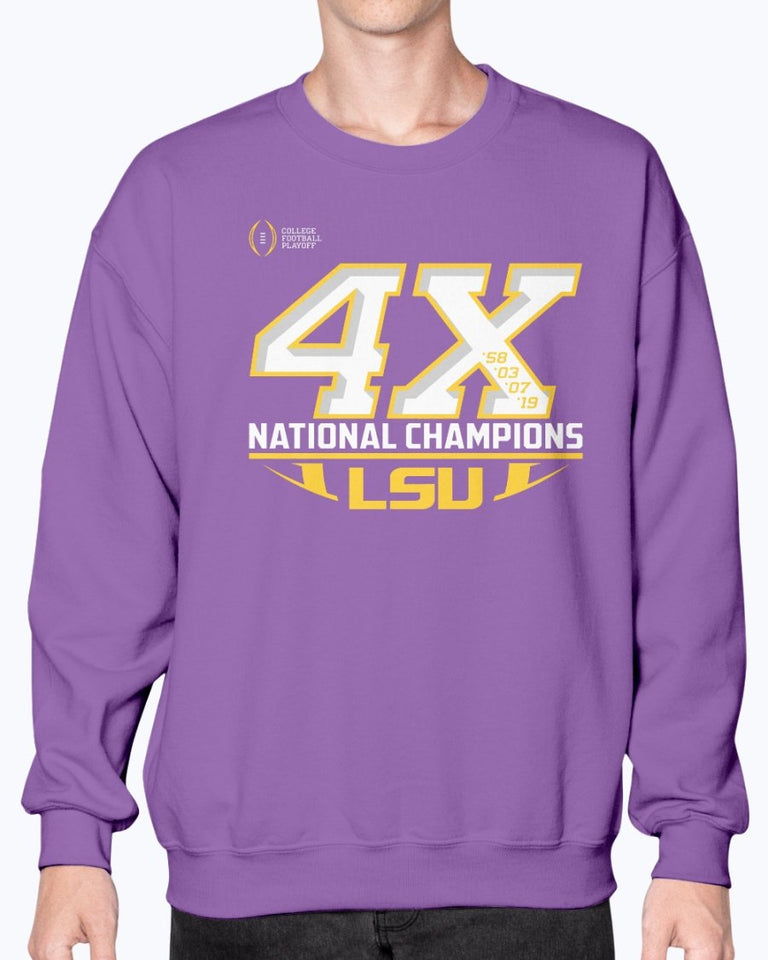 LSU Tigers 4X National Champions T-Shirt