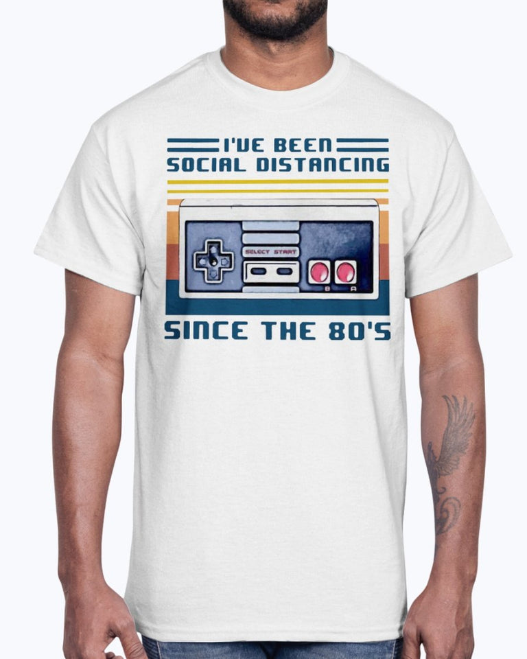 I've Been Social Distancing Since The 80's Vintage Shirt