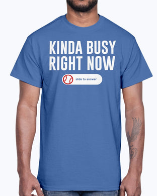 KINDA BUSY RIGHT NOW SHIRT J. T. Chargois - Los Angeles Dodgers