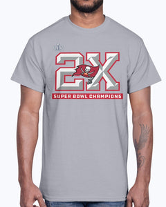 Tampa Bay Buccaneers  2-Time Super Bowl Champions Shirt