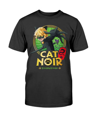 Miraculous Shanghai Cat Noir Fighting Pose T-Shirt