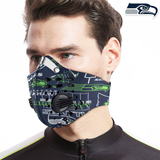 Seattle Seahawks Carbon PM 2,5 Face Mask