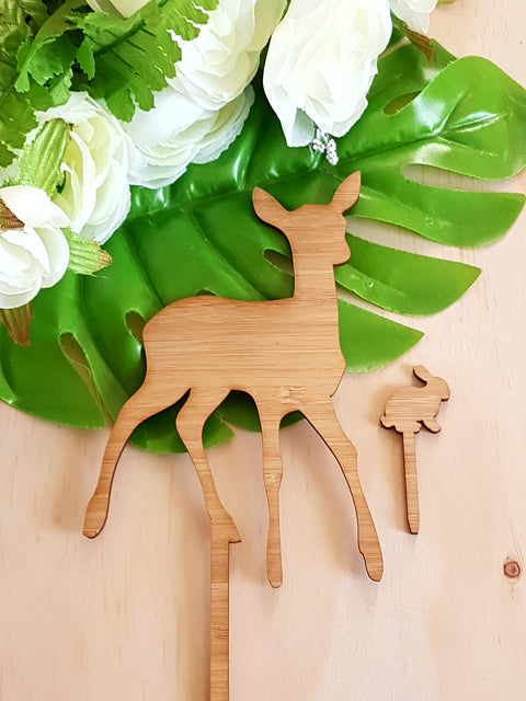 Bamboo Deer and bunny
