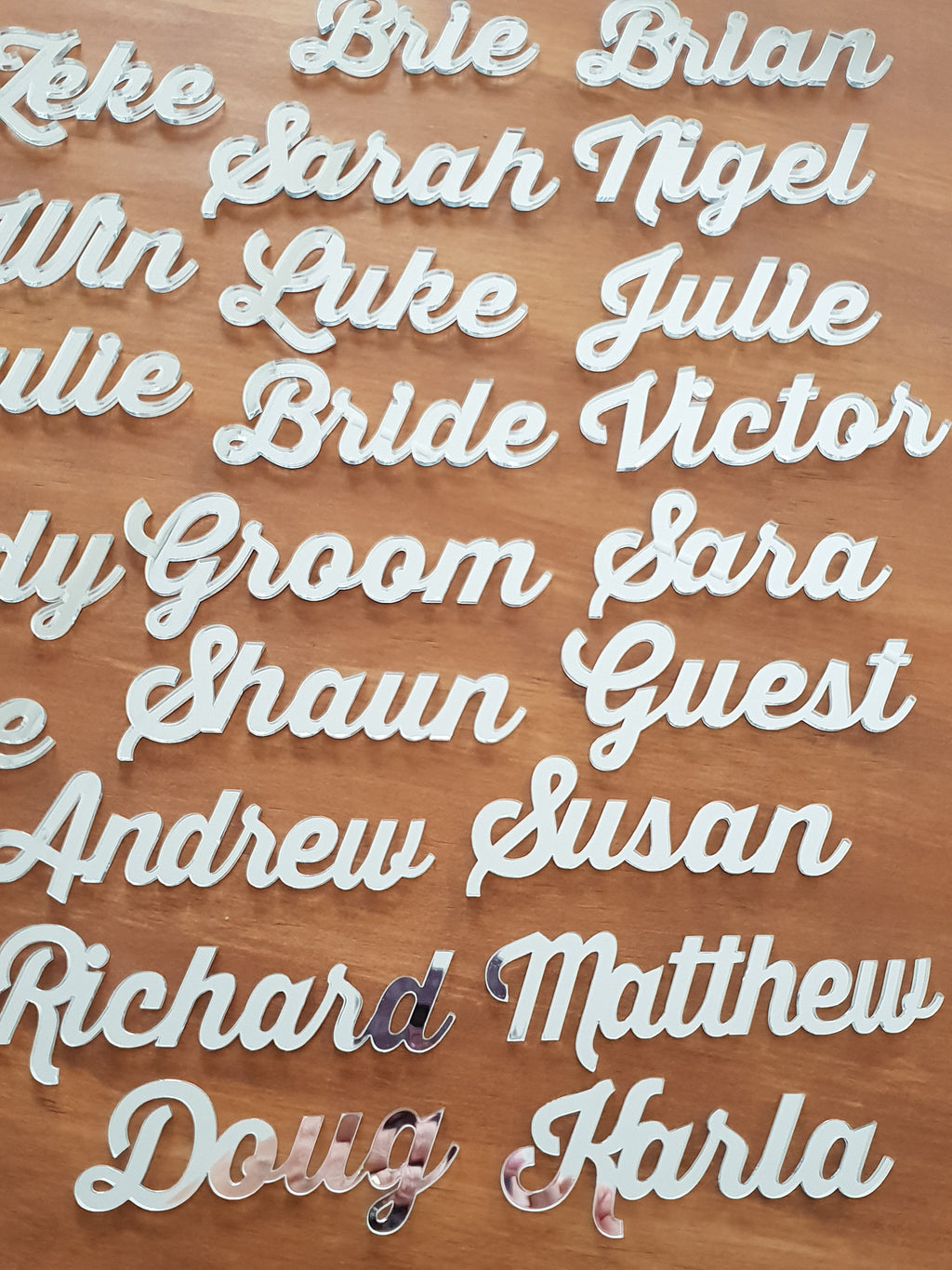 Place Names Font 1 Mirror Silver
