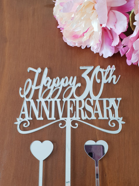 Happy Anniversary 30th cake topper
